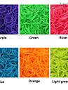 baoguang®600pcs couleur arc-en-loom fluorescente bande de caoutchouc de metier de la mode (le clip de 1package, couleurs assorties)
