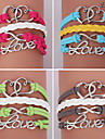 Eruner®Leather Bracelets Multilayer Alloy Heart and Love Charms Handmade Bracelets
