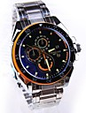 Men's Round Dial Steel Band Quartz Fashion Watch (Assorted Colors) Cool Watch Unique Watch