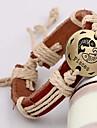 Vintage Unisex Genuine Leather Hand Made Constellation Bracelets - Pisces (1 pc)