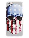 U.S flag and Skull Design Hard Case for iPhone 6