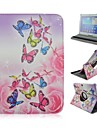 Color Butterfly Rotation Pattern PU Leather Full Body Case with Card Slot for Samsung Galaxy Tab 4 10.1 T530