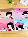 Японская девушка Pattern Пластиковые A4 файл мешок (1 шт случайный цвет)