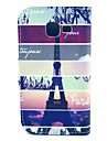 Mosaic Paris Tower Pattern PU Leather with Case and Card Slot for Galaxy Trend Lite S7390/S7392