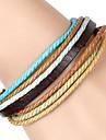 Bracelet Bracelets d\'identification Bracelets d\'amitie Bracelets Bracelets Vintage Bracelets en cuir Cuir TissuSoiree Quotidien