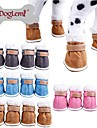 Dog Shoes & Boots Waterproof / Cosplay Blue / Brown / Pink / Gray Spring/Fall Mixed MaterialDog Shoes