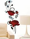 ympäristön irrotettava kaunis punainen ruusu pvc tagit&tarra