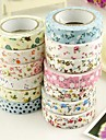 5M Flower Pattern Cloth Tape(1 PCS Random Color)