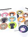 многофункциональный корейский стиль выпечка уплотнения Декоративные DIY наклейки (2 * 9 наклейки / шт)