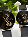 Couple's Round Dial PU Band Quartz Fashion Watch Cool Watches Unique Watches