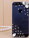 Transparente/Ultra Slim/Gota de Chuva - iPhone 5/iPhone 5S - Capa traseira ( Branco , Policarbonato )
