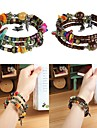 Shell Beads Retro Bohemian Style Agate Handmade String Bracelet Wrapped Women