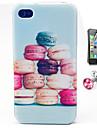 Macarons Kuchen-Muster-TPU Huelle mit Anti-Staub-Stecker und flim fuer iphone 4 / 4s