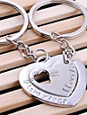 Double Heart Wedding Key Ring Keychain for Lover Valentine\'s Day(One Pair)