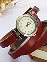 Women\'s Fashion Watch Bracelet Watch Wrist watch Quartz Leather Band Vintage Bohemian Blue Red Brown