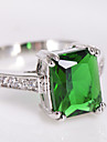 Bagues Affirmees Zircon Gemme Imitation de diamant Mode Vert Bijoux Mariage Soiree Quotidien Decontracte Sports 1pc