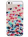 iPhone 7 Plus Love Pattern TPU Relief Back Cover Case for iPhone 5