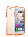 Two Mixed Colors with Transparent Middle Bumper Frame Case for iPhone 4/4S(Assorted Colors)