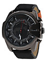 Men's Military Design Black Case Fabric Band Quartz Wrist Watch Cool Watch Unique Watch