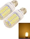 12W E26/E27 LED a pannocchia 96 SMD 5050 1100 lm Bianco caldo Decorativo AC 220-240 V 2 pezzi