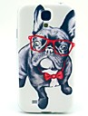 Glasses Dog TPU Soft Case for Samsung Galaxy S4 I9500