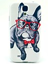 Glasses Dog Pattern TPU Soft Cover for Samsung Galaxy S4 MINI I9190