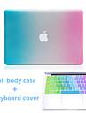 caso duro de corpo inteiro e TPU tampa do teclado cor gradiente de alta qualidade para o MacBook Air de 13,3 polegadas
