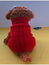 Dog Sweater Red / Blue / Brown Winter Solid