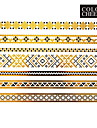 1Pc Gold And Black Long Bracelet Jewelry Tattoo Sticker 23x15CM