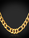 U7® Men's 18K Chunky Gold Plated Figaro Chain Necklace For Men 4MM,28 Inches (71CM) Jewelry Christmas Gifts