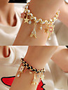 Eiffel Tower Alloy/Leather Charm Bracelets Wedding/Party/Daily 1pc