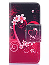 For Samsung Galaxy Case Wallet / Card Holder / with Stand / Flip Case Full Body Case Heart PU Leather SamsungS5 Mini / S5 / S4 Mini / S4