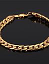 u7® мужская 18k коренастый заполненное золото Figaro кубинский браслет цепи 7мм 21см ювелирных изделий