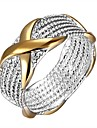 Jewelry Simple Cheap Ring With Gold 925 Sterling Silver Ring For Women LKNSPCR013
