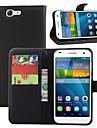 Para Capinha Huawei Carteira / Porta-Cartao / Com Suporte / Flip Capinha Corpo Inteiro Capinha Cor Unica Rigida Couro PU Huawei Huawei G7