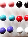 Women\'s 6 pairs per Set Colorful Pearls Stud Earrings