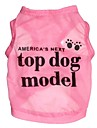 Cat / Dog Shirt / T-Shirt Pink Dog Clothes Summer Letter & Number Cosplay