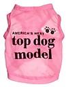 Pisici / Câini Tricou Roz Îmbrăcăminte Câini Vara Literă & Număr Cosplay