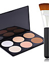 Pro Party 6 Colors Face Bronzing Powder Makeup Palette + Powder Brush