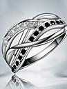Классические кольца Медь Серебрянное покрытие Мода Бижутерия Для вечеринок Повседневные 1шт