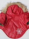 Cat / Dog Coat / Hoodie Red Dog Clothes Winter Snowflake Cosplay
