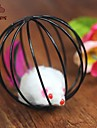 Cat Toy Pet Toys Teaser / Mouse Toy Cage Ball / Mouse Plastic Black