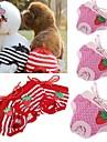Коты / Собаки Брюки Красный / Розовый Одежда для собак Весна/осень В горошек / Бант Свадьба / Косплей
