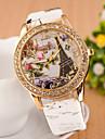 Women\'s Watches Watch Fashion Belt Diamond Watch Digital Quartz Watch Eiffel Tower Personality 3D