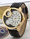 Men\'s Leather Band Quartz Anolog Sports Wrist Watch(Assorted Colors)