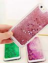 Pour Coque iPhone 5 Liquide Transparente Coque Coque Arriere Coque Brillant Flexible PUT pour iPhone SE/5s/5
