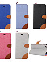 For iPhone 5 Case Card Holder / with Stand / Flip / Pattern Case Full Body Case Solid Color Hard PU Leather iPhone SE/5s/5