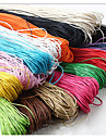 Beadia 60M/Lot  Fashion 1mm Waxed Cotton Cord  Necklace Beading String 12 Colors U-Pick