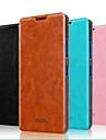 용 노키아 케이스 스탠드 / 플립 케이스 풀 바디 케이스 단색 하드 천연 가죽 Nokia Nokia Lumia 640 / Nokia Lumia 640 XL
