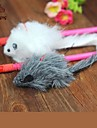 Cat Toy Pet Toys Teaser / Feather Toy Mouse Textile Random Color